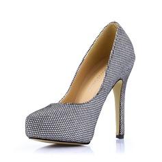 Cuero Tacón stilettos Salón Plataforma Cerrados zapatos