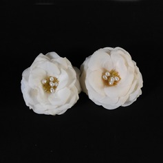 Stylish Artificial Silk Hair Flowers (Set of 2)