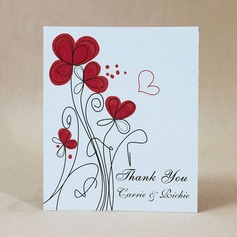 Personalized Flower Design Hard Card Paper Thank You Cards (Set of 50)