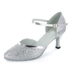 Donna Glitter scintillanti Tacchi Stiletto stile moderno Sala da ballo con Listino alla caviglia Scarpe da ballo