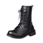 Women's Leatherette Low Heel Closed Toe Ankle Boots shoes (088094532)